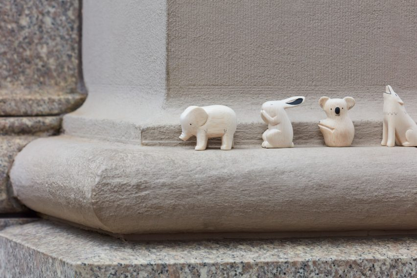 Wooden animals from Polepole Animal