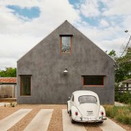 Side Angle Side creates gabled home in Austin for an architectural photographer