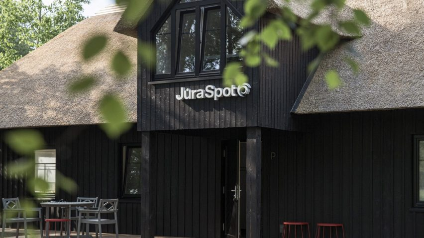 Jūra Spot signage was placed on the exterior