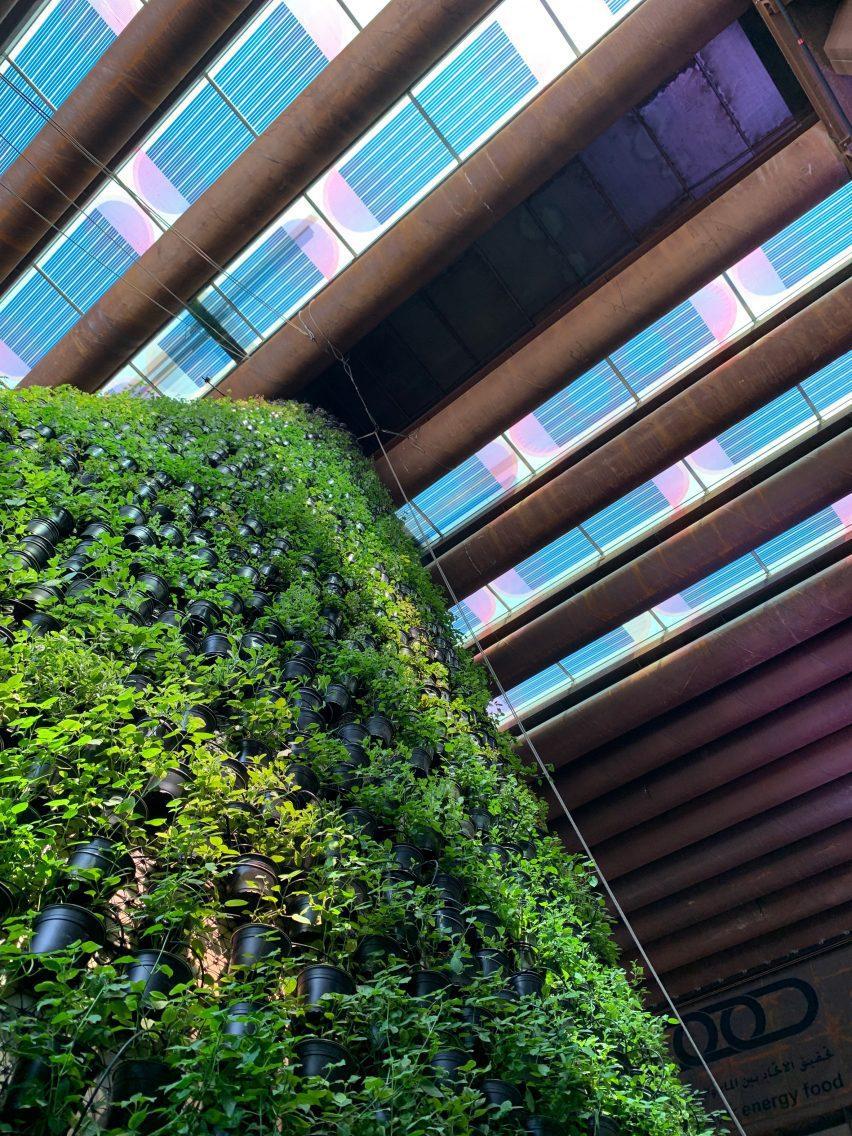 Солнечные элементы с розовым и синим муаром на крыше от Марьана ван Обеля