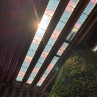 Marjan van Aubel creates colourful solar panel skylight for Dubai Expo