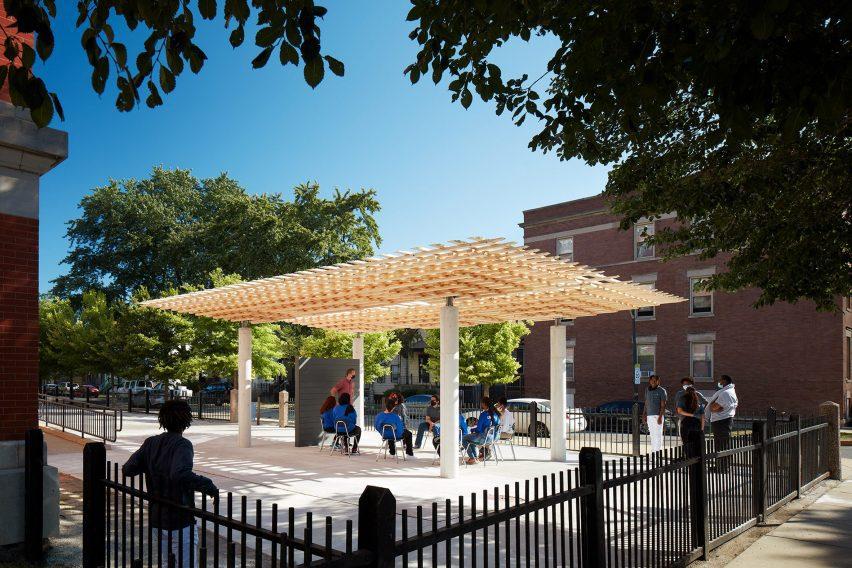 Павильон СПЛАМ используется как открытый класс в EPIC Academy в Чикаго