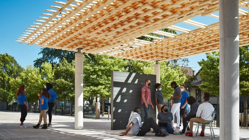 SPLAM pavilion by SOM architects and University of Michigan Taubman College