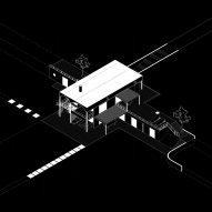 An axonometric drawing of St Minas House by Neiheiser Argyros