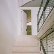 Staircase with terrazzo steps