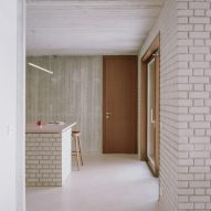 Brick and concrete kitchen