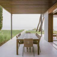 Villa terrace in Greece