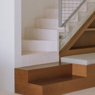 Terrazzo and wood staircase