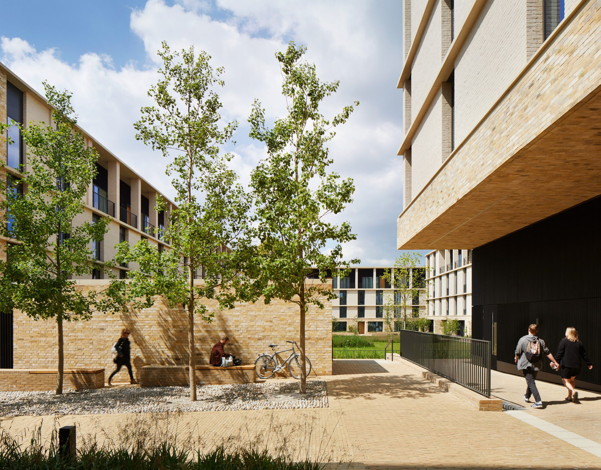 Stanton Williams used pale brick across the Key Workers Housing
