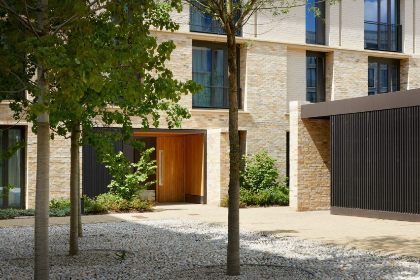 Key Workers Housing is surrounded by landscaped courtyards