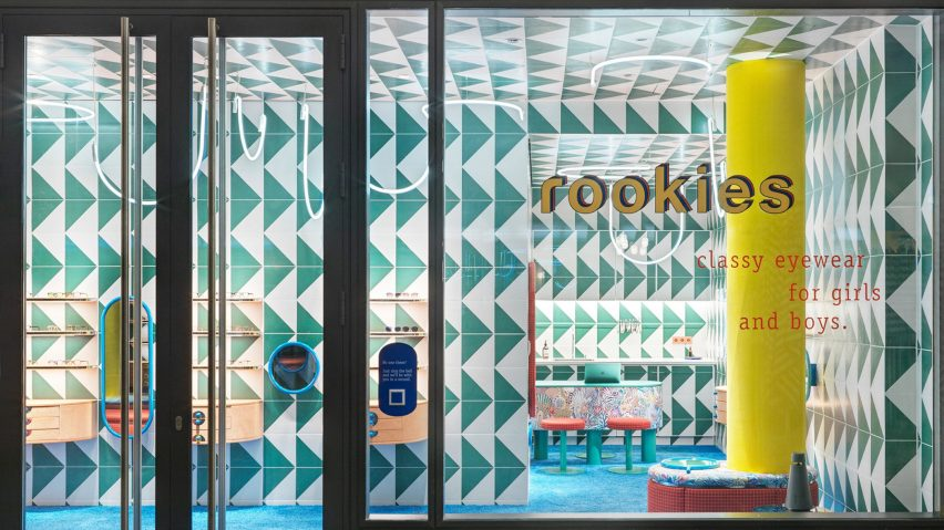 Glass store front of rookies eyewear store by Stephanie Thatenhorst