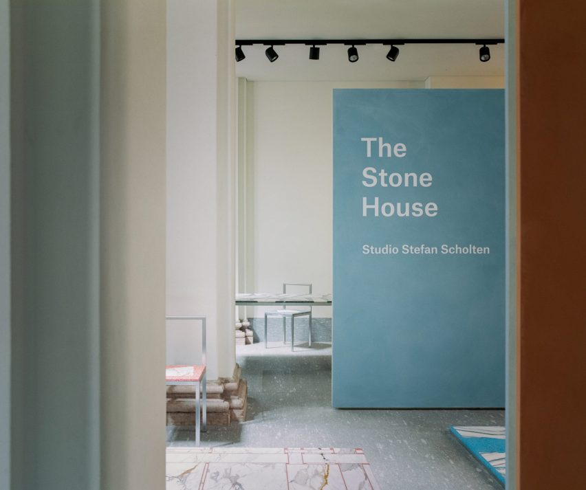 Entry to the Stone House exhibition