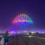 "Studio Drift creates ""collection of memories"" of Burning Man using lit-up drones"