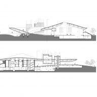Yang Liping Performing Arts Center sectional drawings