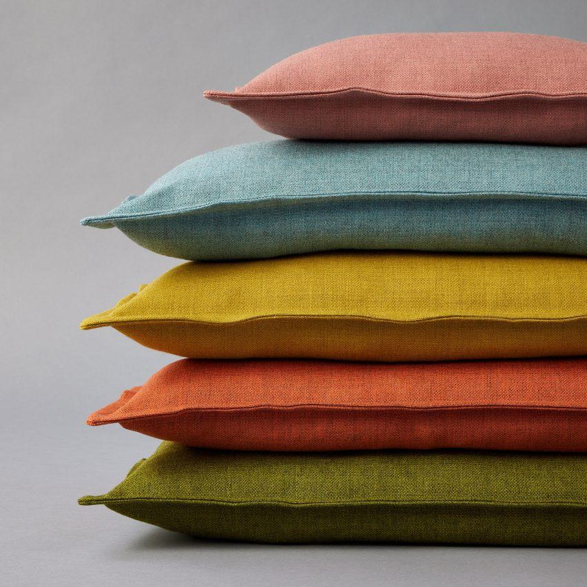 Coloured cushions