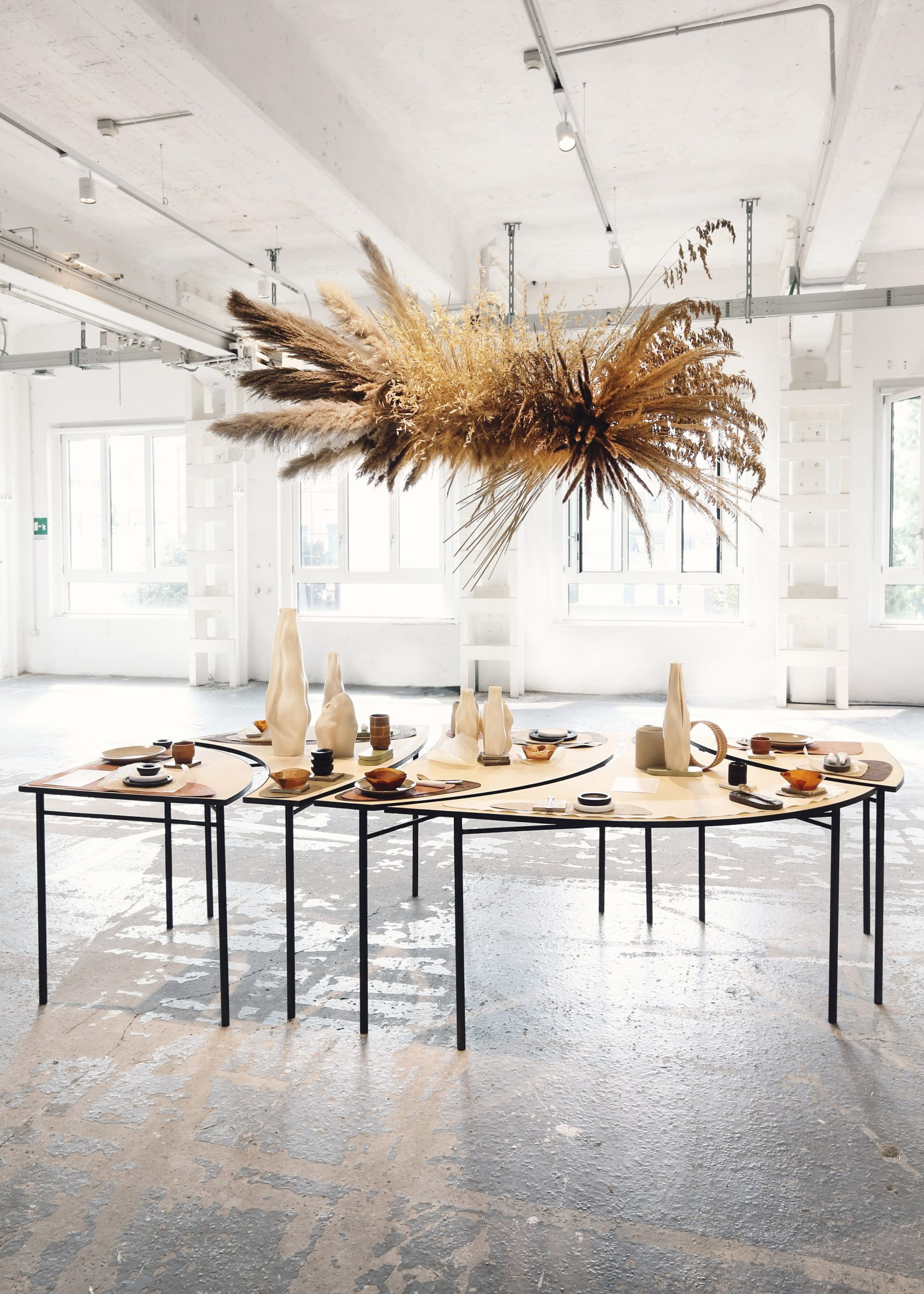 The installation is a table setting
