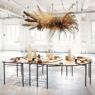 Studio.traccia shows food-waste table and crockery at Milan design week
