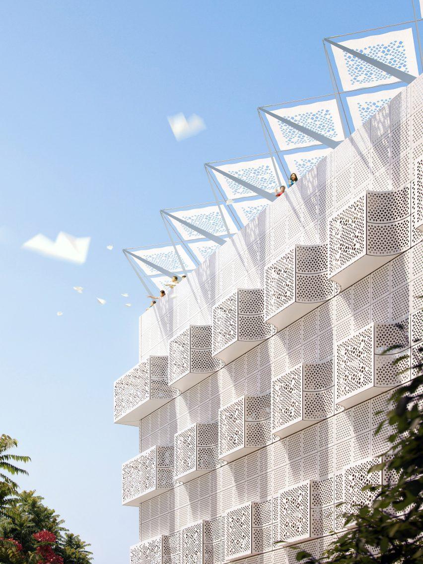 Третье пространство: Хавели Любопытства имеет геометрический фасад.