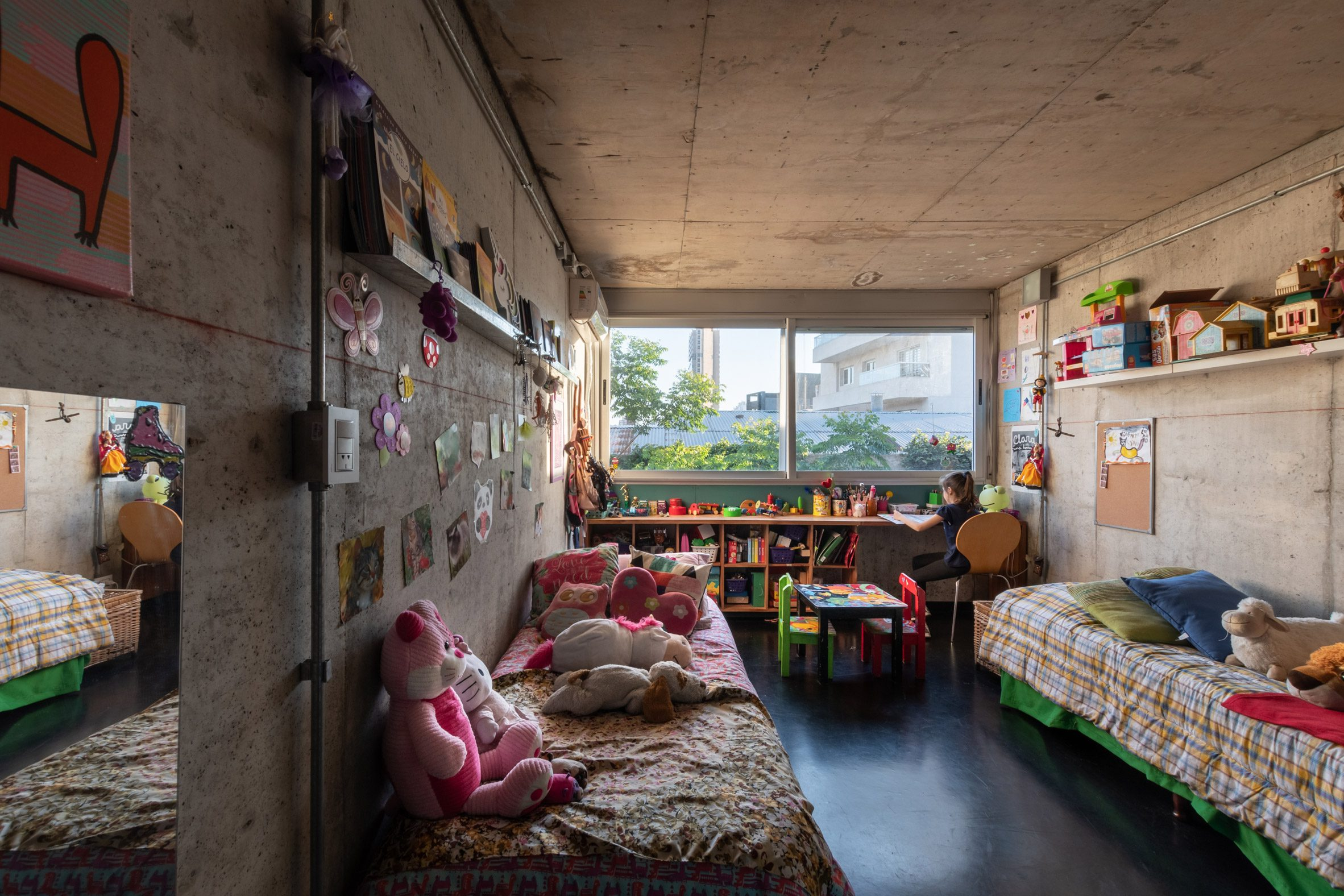 A children's bedroom in The Tríptico Building