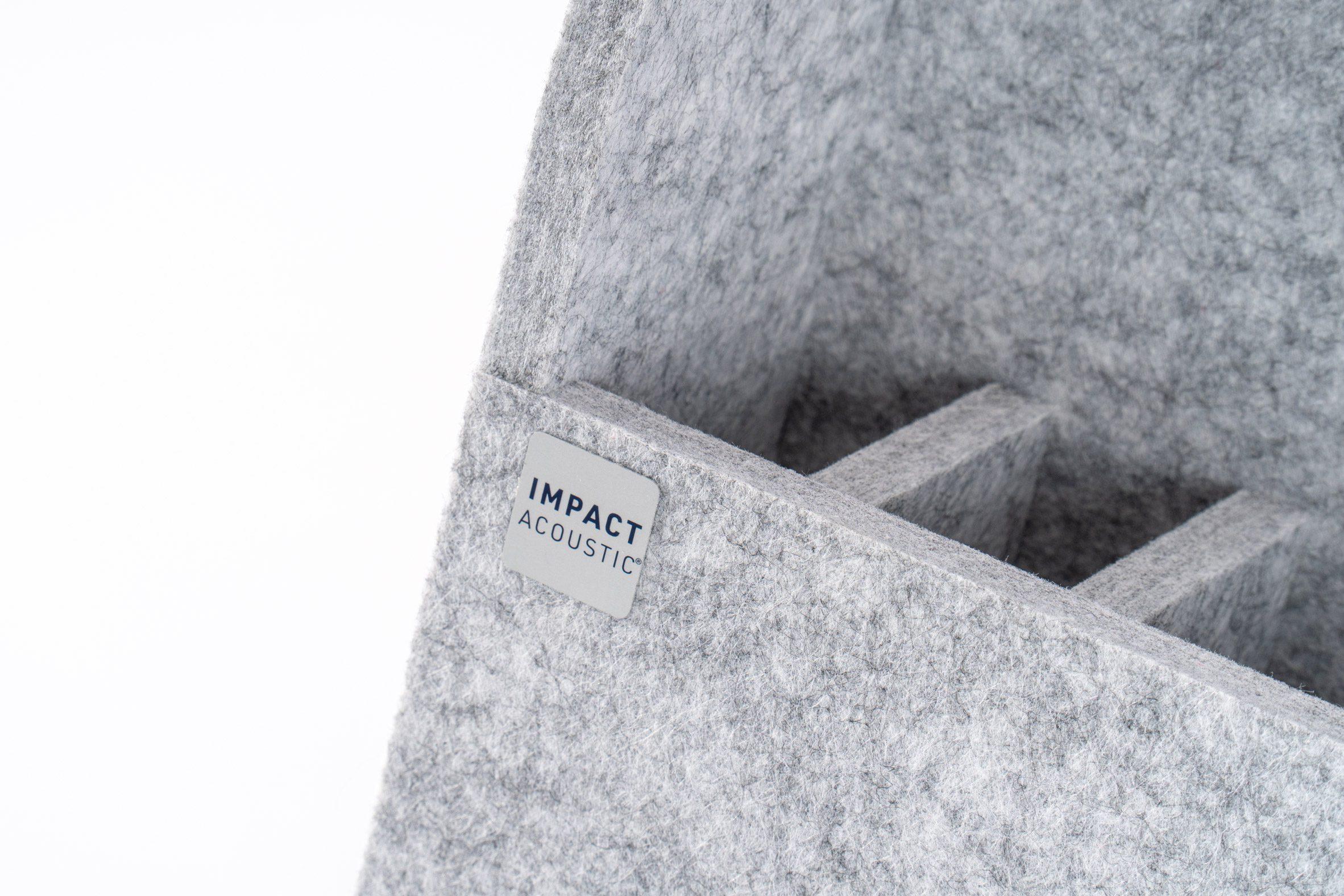 Акустический органайзер для рабочего стола TwoWay от Impact Acoustic из серого фетра