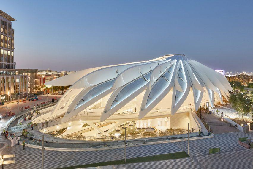 Открытие крыши павильона ОАЭ на выставке Dubai Expo
