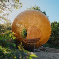 AndrénFogelström installs sculptural spheres in Stockholm park