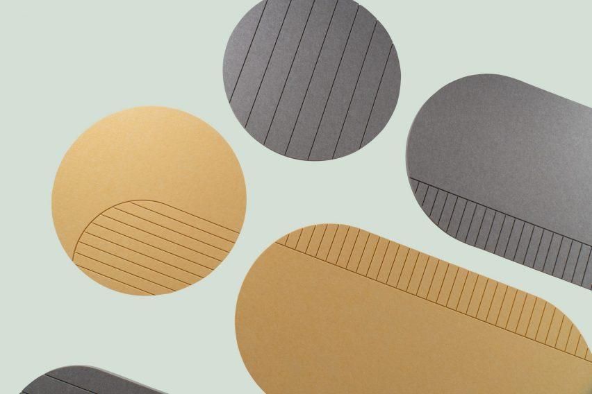 Yellow and grey Vela acoustic panels