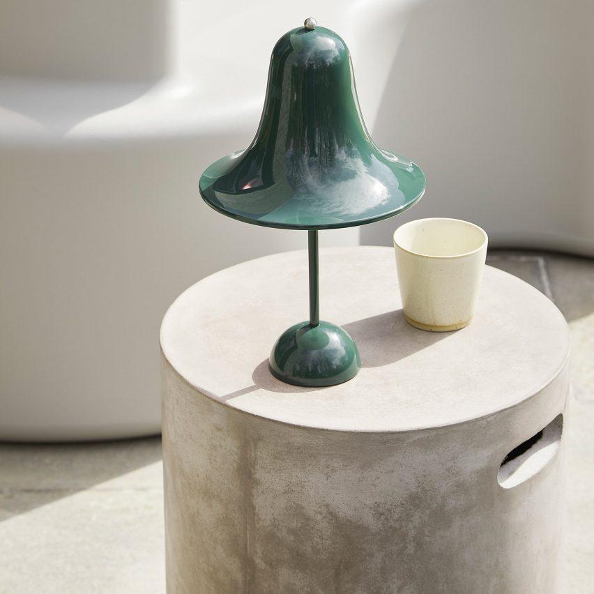 Pantop Portable light by Verner Panton for Danish company Verpan