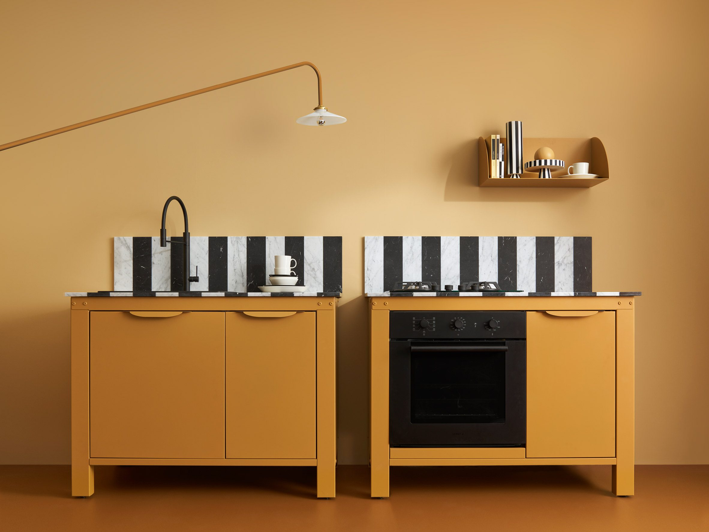Two yellow units by Very Modern Kitchen