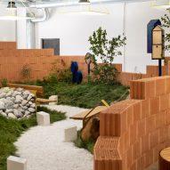 Note Design Studio reuses Vestre fair stand to form indoor park installation
