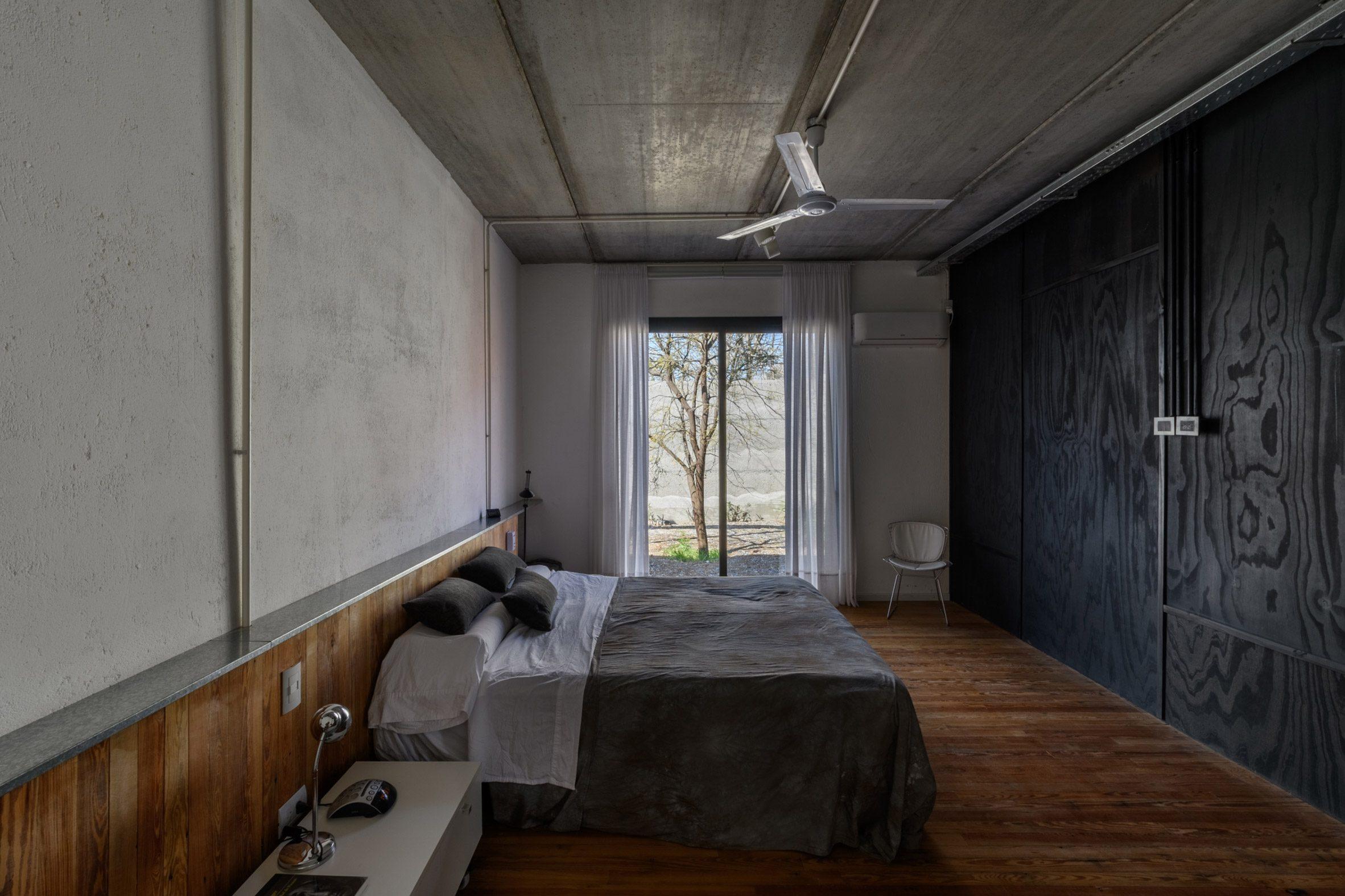 Dark interiors in one of the bedrooms