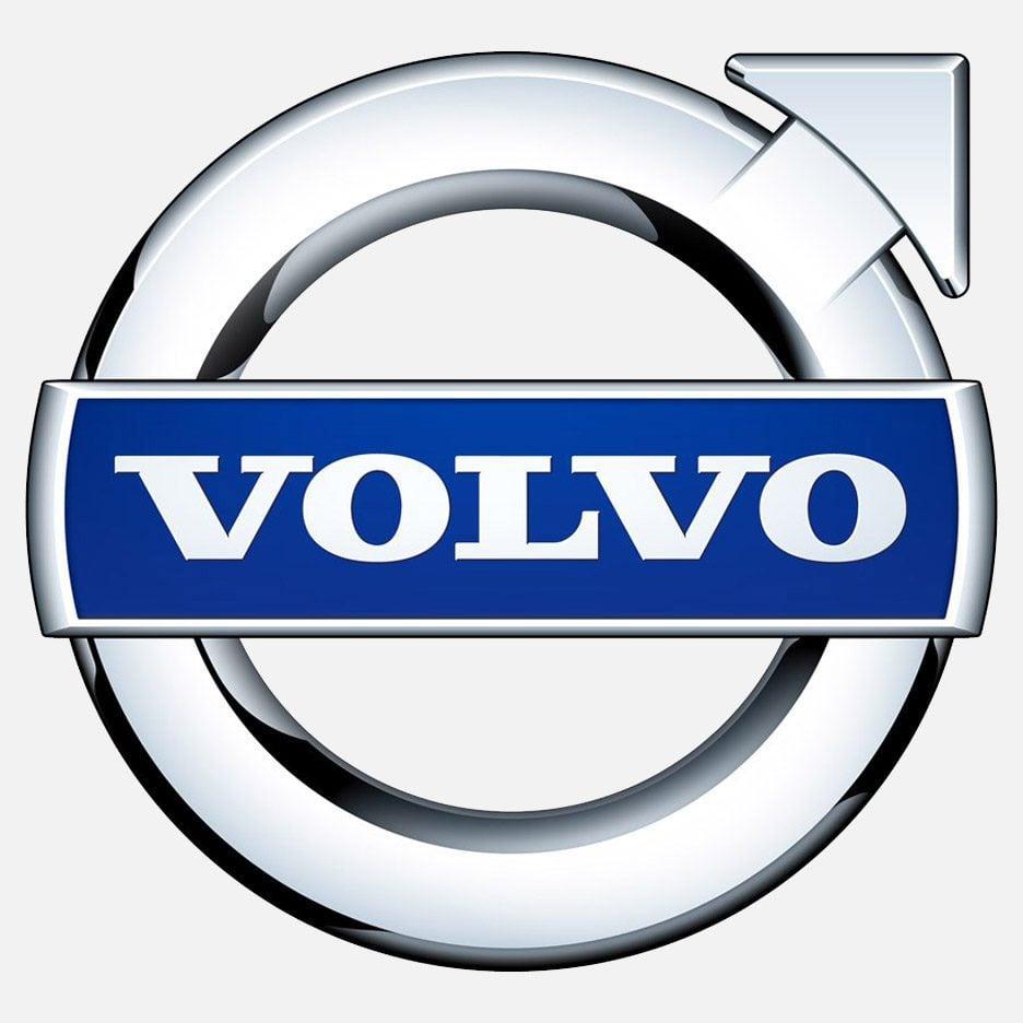 Серебристо-синий логотип Volvo
