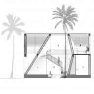 section drawing of Pirouette House by wallmakers