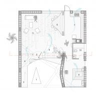 ground floor plan of Pirouette House by wallmakers