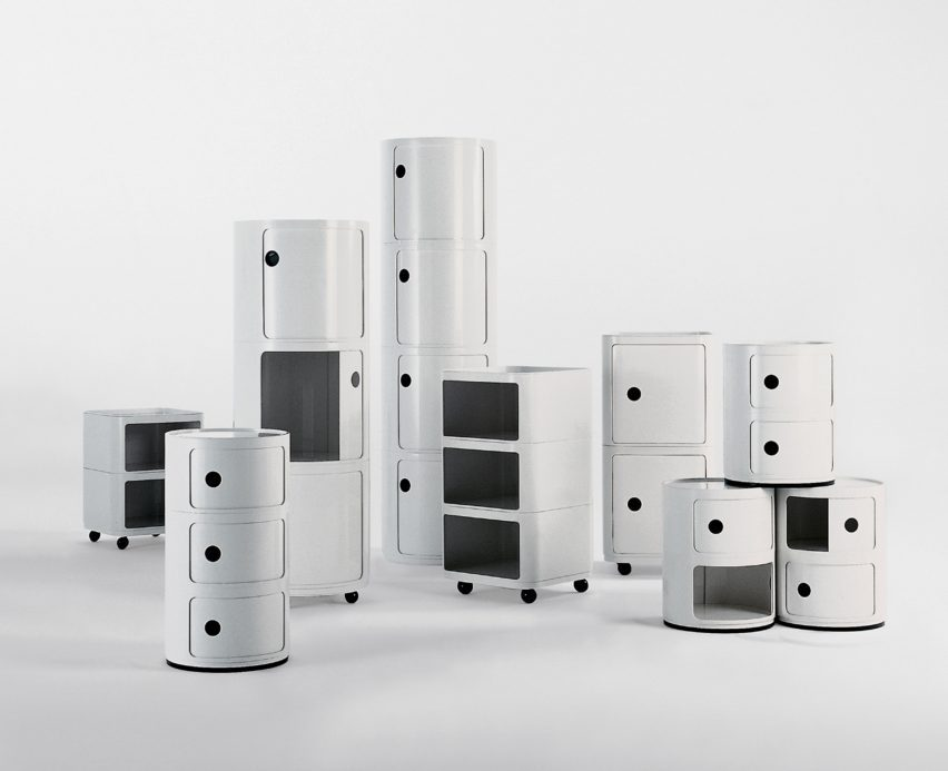 Sistem penyimpanan modular Componibili, 1967, oleh Anna Castelli Ferrieri