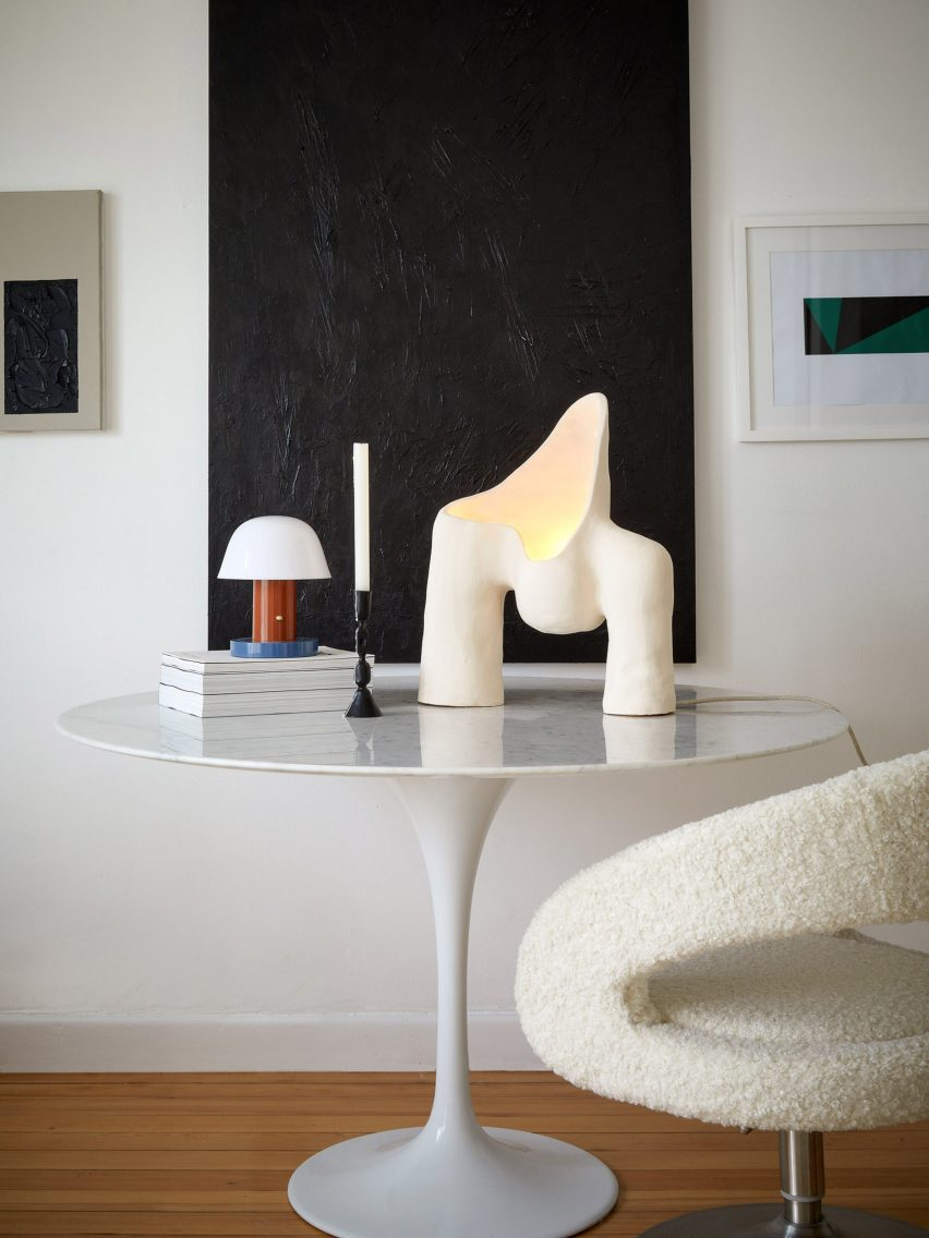 A photograph of the Womb Lamp series by Jan Ernst