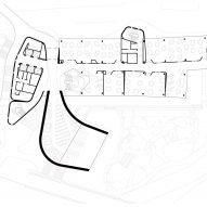 Ground floor plan of Deakin Law School by Woods Bagot