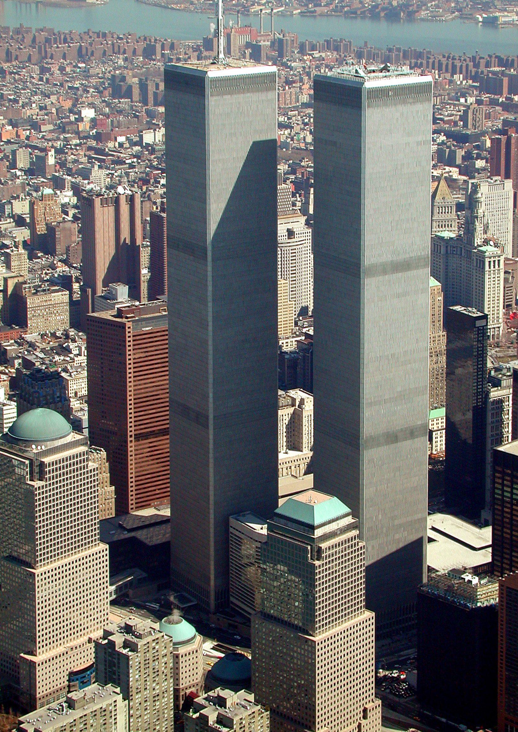 World Trade Centre towers by Minoru Yamasaki