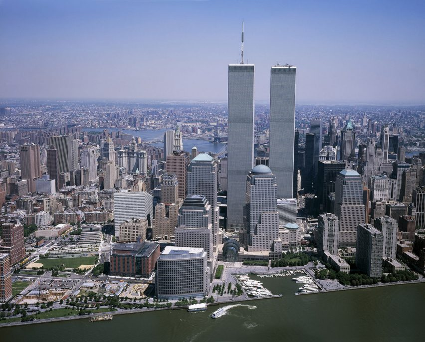 New York skyline featuring the Twin Towers