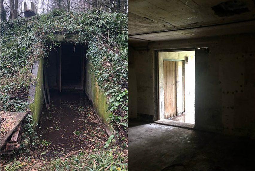 Дом для отпуска в бункере второй мировой войны