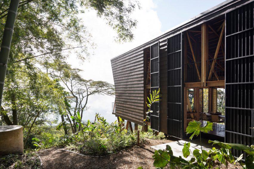 Santiago Pradilla and Zuloark designed Woven House on stilts