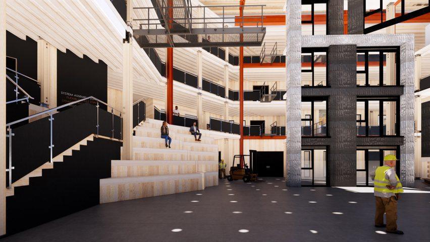 An illustration of a construction skills centre