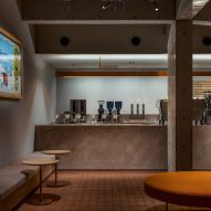 "Keiji Ashizawa designs Blue Bottle Coffee shop for ""cave-like space"" in Maebashi hotel"