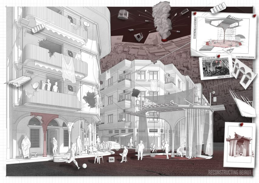 An architectural illustration of Beirut