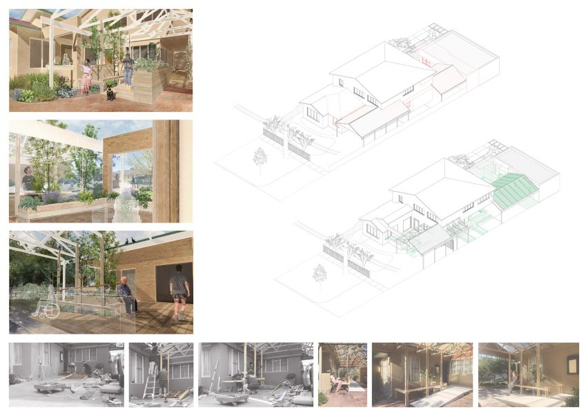 An image of an architectural research project