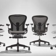 Aeron Onyx Herman Miller office chair by Bill Stumpf Don Chadwick