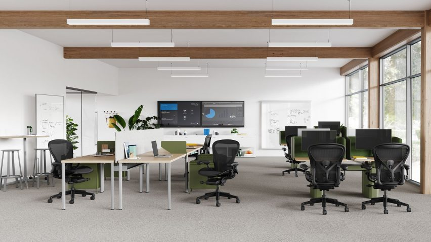 Herman Miller chairs in an office