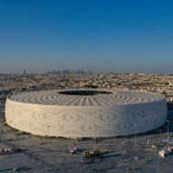 Head cap-shaped stadium opens ahead of Qatar World Cup