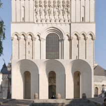 Angers Cathedral entrance by Kengo Kuma