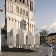 """Kengo Kuma's plan for contemporary cathedral entrance """"not as ugly as it could be"""" says commenter"""